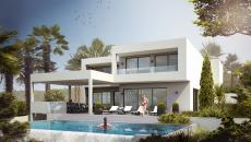 NEW PROGRAM LES ISSAMBRES. contemporary villa under construction. Features High Tech. heated infinity pool. 1 bedroom suite with bathroom and dressing room, 4 bedrooms with shower room, living room with open kitchen opening on the beaches of the pool. Garage and landscaped garden.